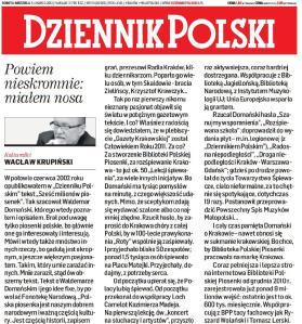 Dziennik Polski (3 marca 2012 r.)